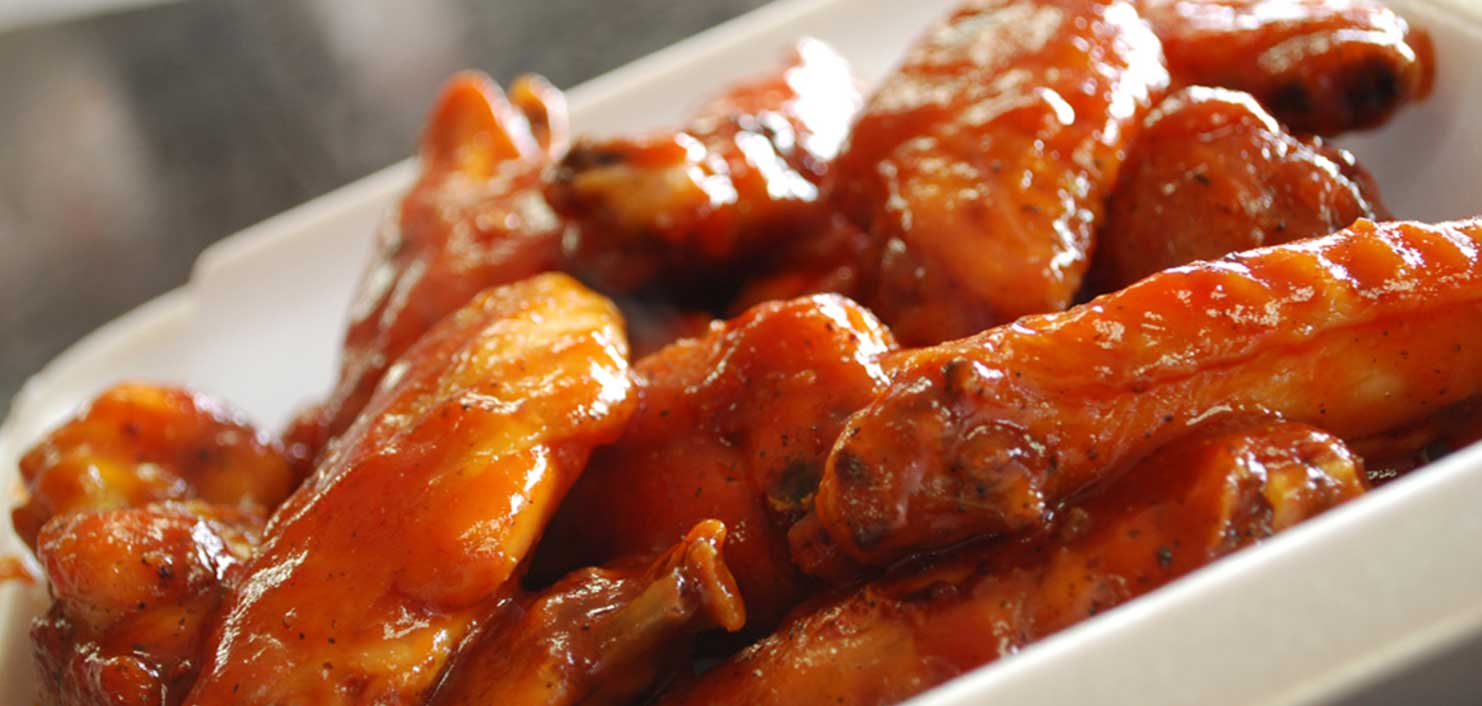 Delicious saucy chicken wings